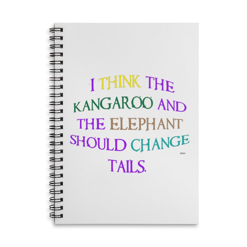 Change Tails Accessories Lined Spiral Notebook by artworkdealers Artist Shop