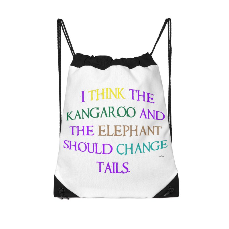 Change Tails Accessories Drawstring Bag Bag by artworkdealers Artist Shop