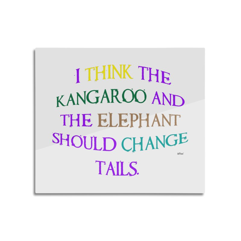 Change Tails Home Mounted Aluminum Print by artworkdealers Artist Shop