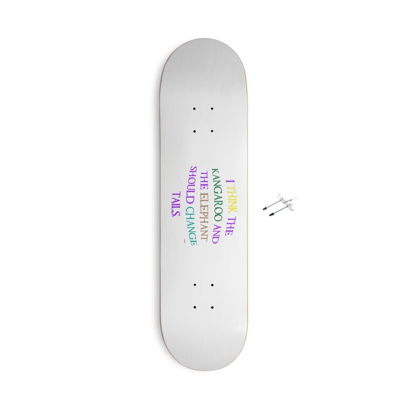 Change Tails Accessories With Hanging Hardware Skateboard by artworkdealers Artist Shop