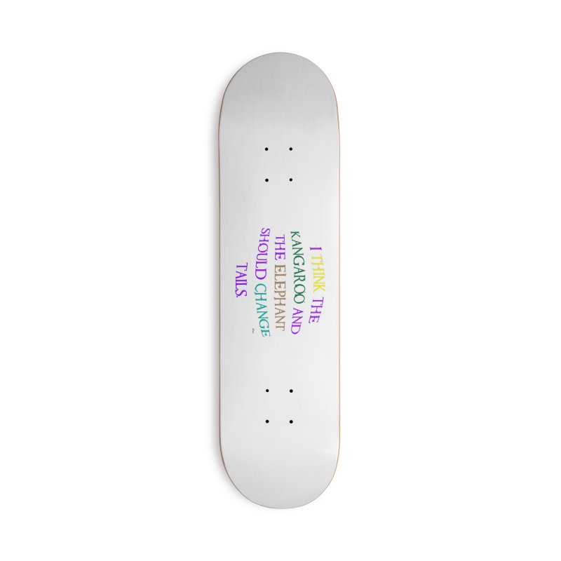Change Tails Accessories Deck Only Skateboard by artworkdealers Artist Shop