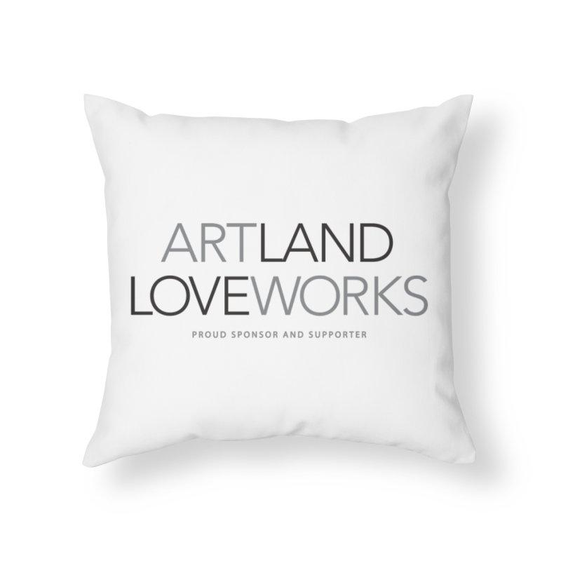 Art Land Love Works Home Throw Pillow by Artworks Loveland