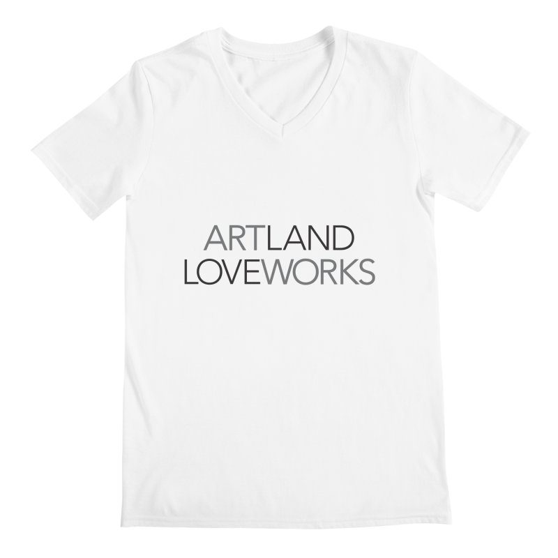 Art Land Love Works Men's Regular V-Neck by Artworks Loveland