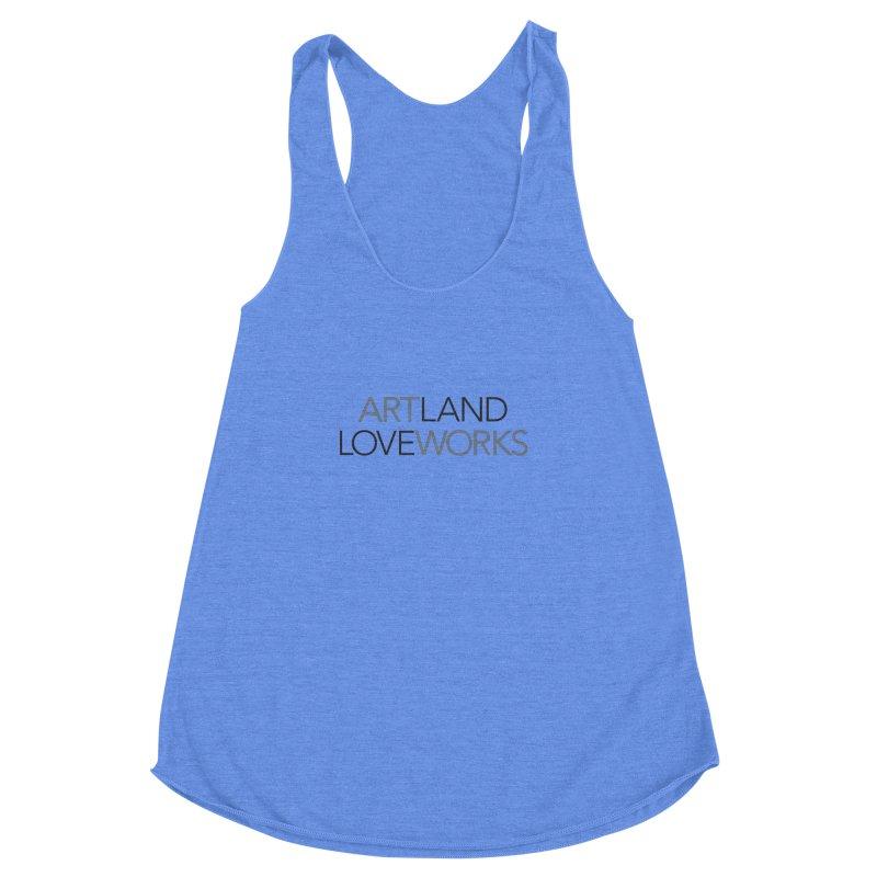 Art Land Love Works Women's Racerback Triblend Tank by Artworks Loveland