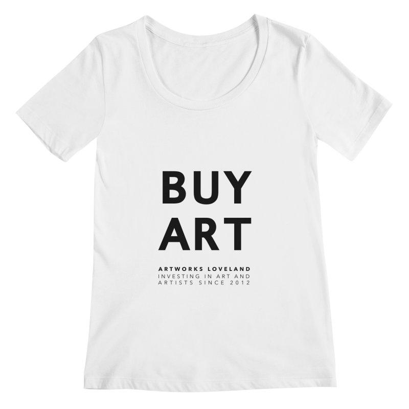 BUY ART Women's Regular Scoop Neck by Artworks Loveland