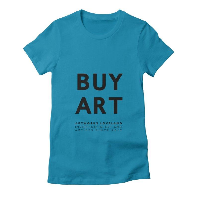 BUY ART Women's Fitted T-Shirt by Artworks Loveland