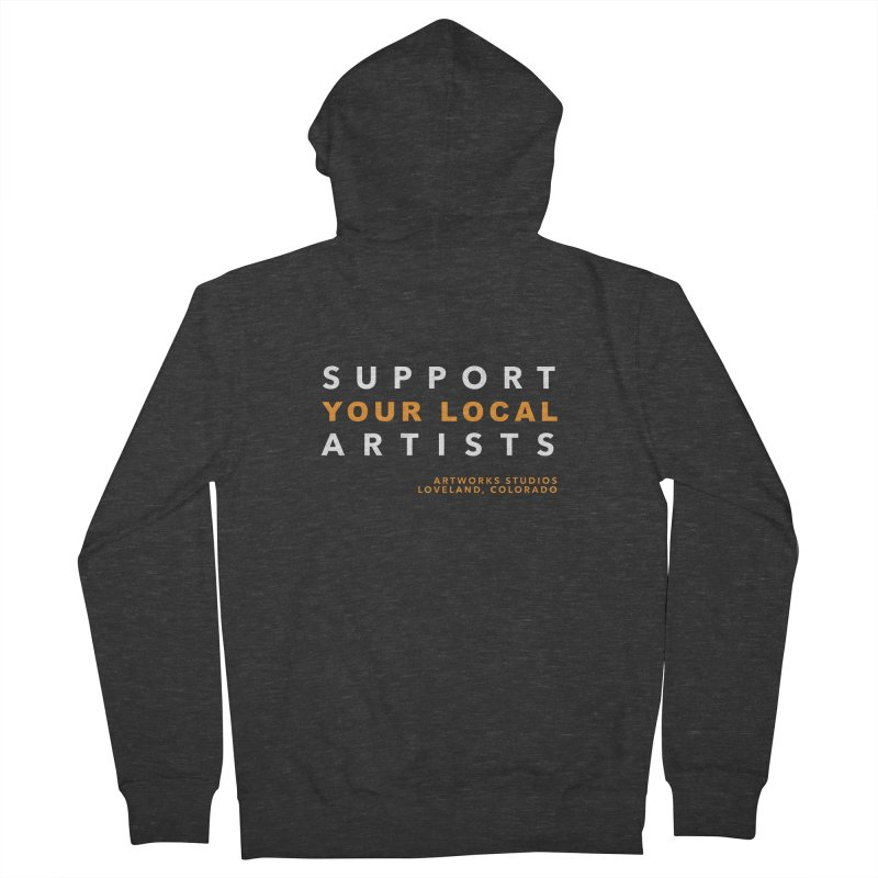 SUPPORT YOUR LOCAL ARTISTS Men's French Terry Zip-Up Hoody by Artworks Loveland