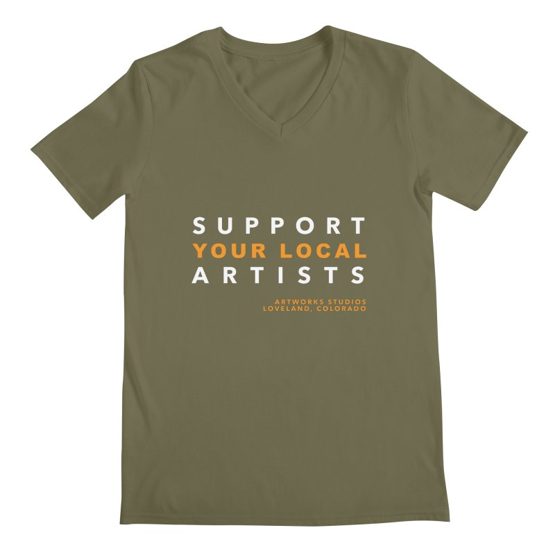 SUPPORT YOUR LOCAL ARTISTS Men's V-Neck by Artworks Loveland
