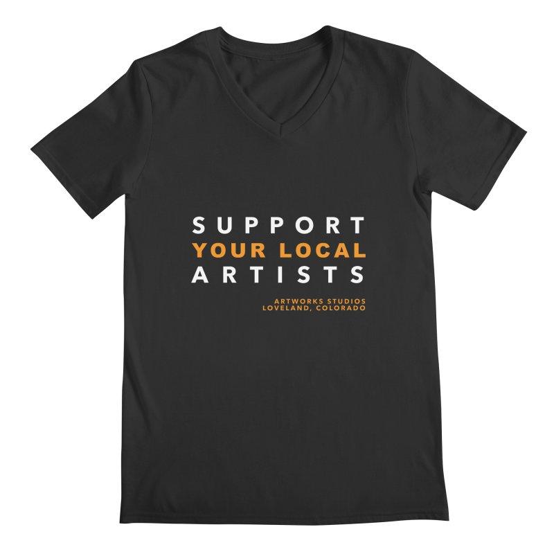 SUPPORT YOUR LOCAL ARTISTS Men's V-Neck by Artworks Loveland