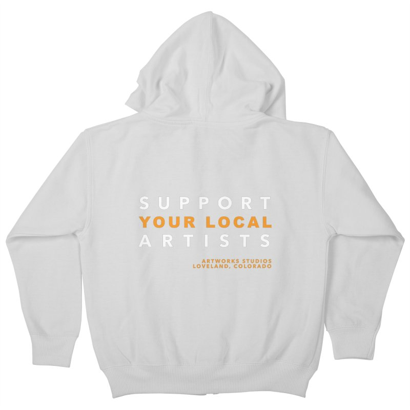 SUPPORT YOUR LOCAL ARTISTS Kids Zip-Up Hoody by Artworks Loveland