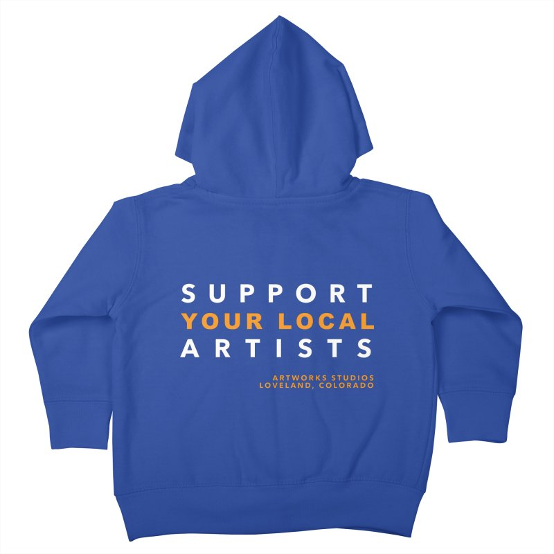 SUPPORT YOUR LOCAL ARTISTS Kids Toddler Zip-Up Hoody by Artworks Loveland