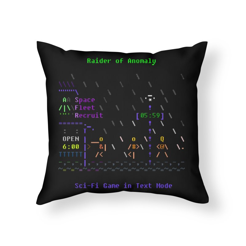 Robot Home Throw Pillow by ASCIIDENT