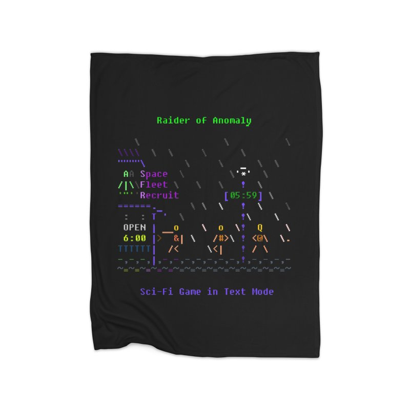 Robot Home Fleece Blanket Blanket by ASCIIDENT