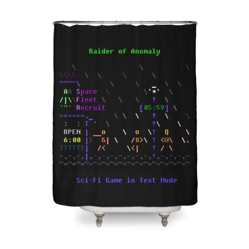 Robot Home Shower Curtain by ASCIIDENT