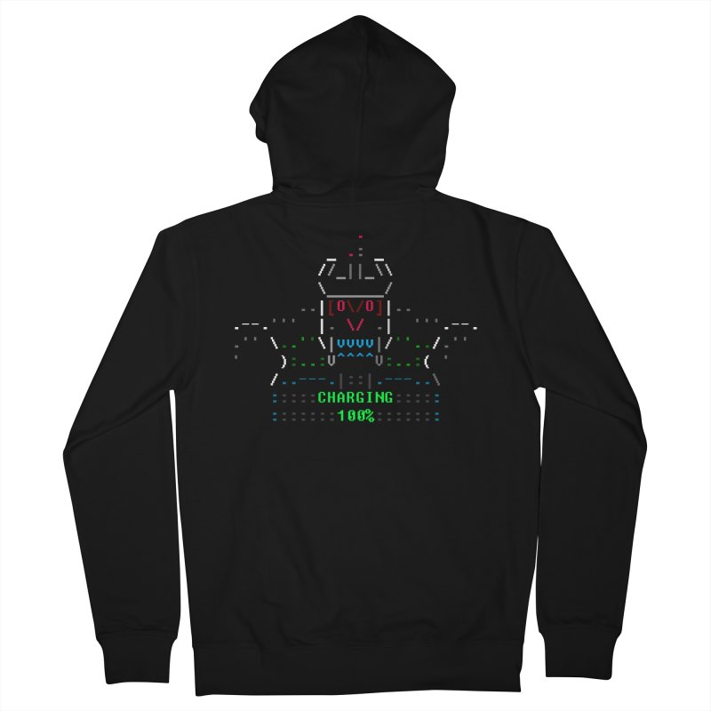 Robot Men's French Terry Zip-Up Hoody by ASCIIDENT