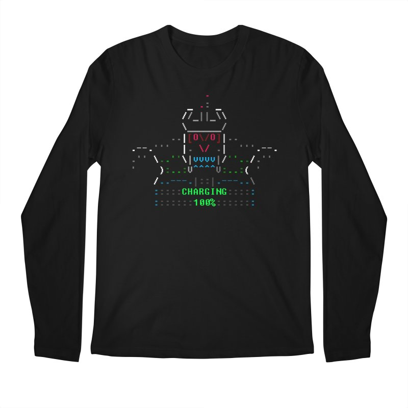 Robot Men's Longsleeve T-Shirt by ASCIIDENT