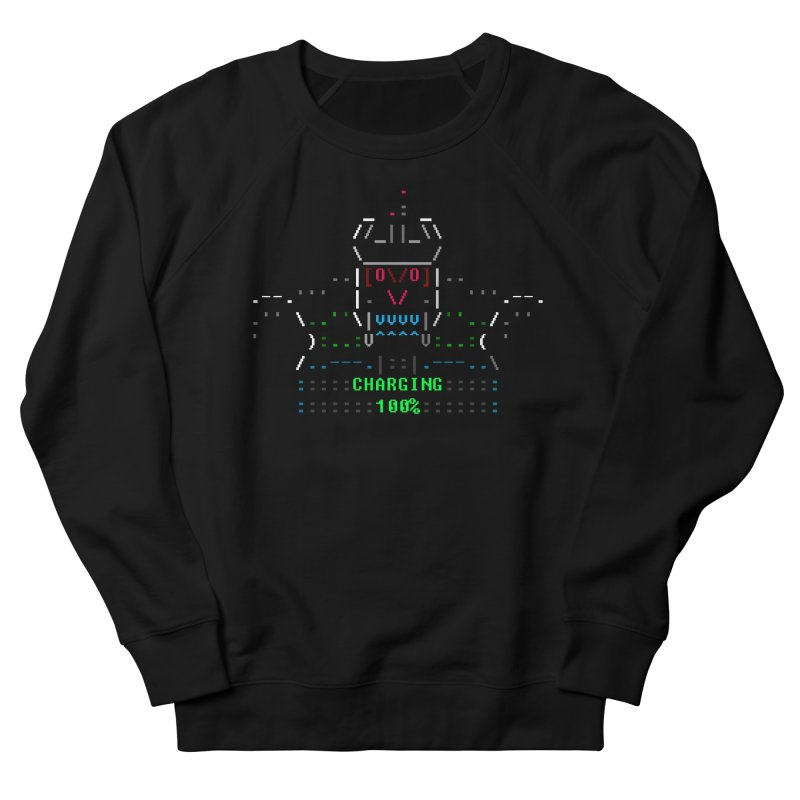 Robot Men's French Terry Sweatshirt by ASCIIDENT