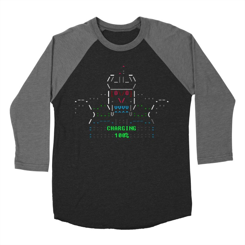 Robot Men's Baseball Triblend T-Shirt by ASCIIDENT