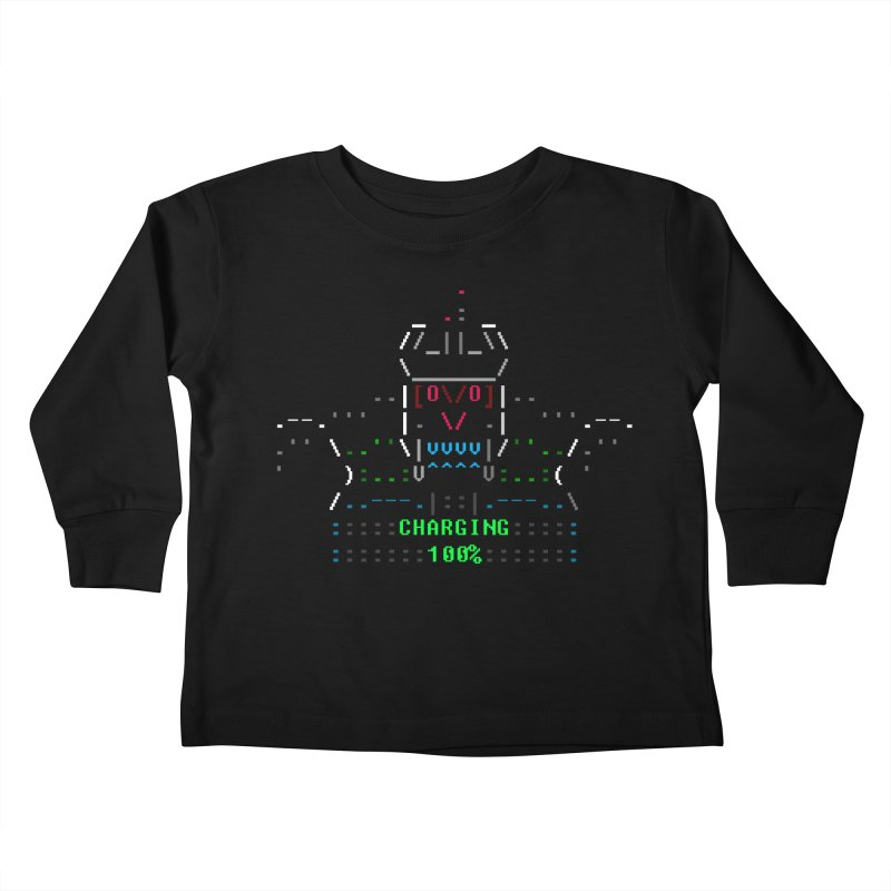 Robot Kids Toddler Longsleeve T-Shirt by ASCIIDENT