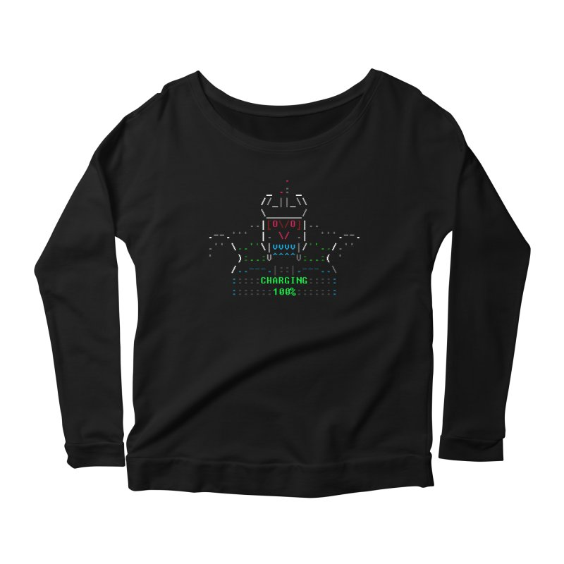 Robot Women's Scoop Neck Longsleeve T-Shirt by ASCIIDENT