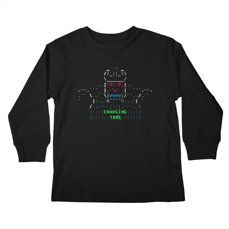 Robot Kids Longsleeve T-Shirt by ASCIIDENT