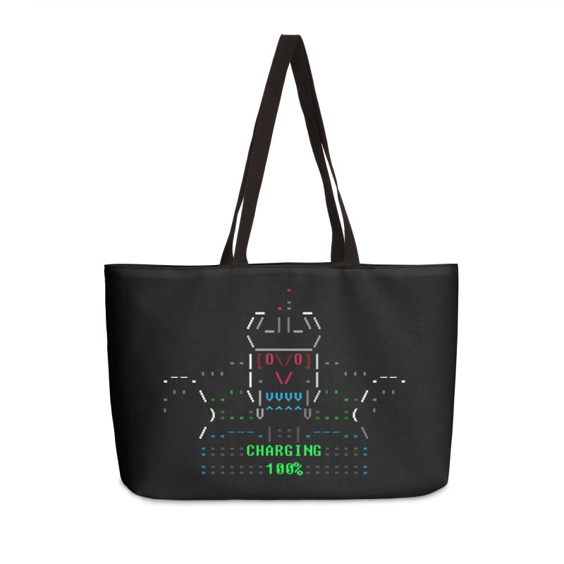 Robot Accessories Weekender Bag Bag by ASCIIDENT