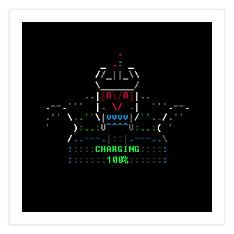 Robot Home Fine Art Print by ASCIIDENT