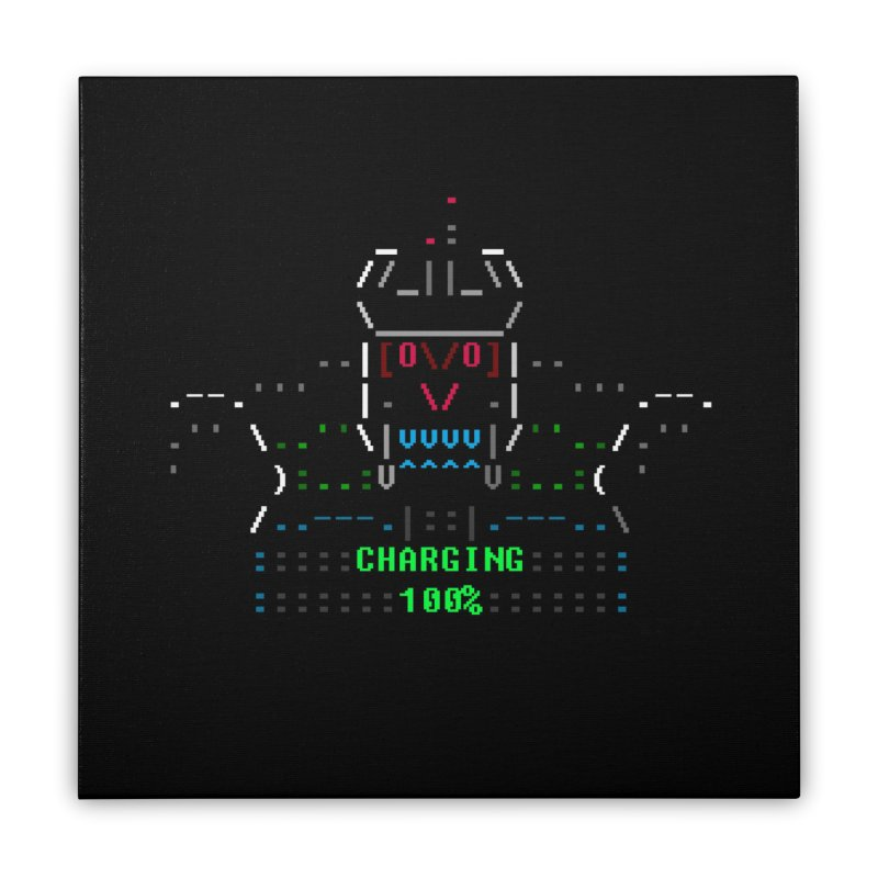 Robot Home Stretched Canvas by ASCIIDENT