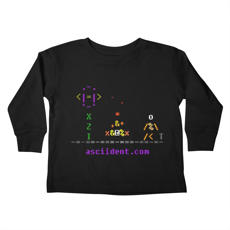Fire Kids Toddler Longsleeve T-Shirt by ASCIIDENT