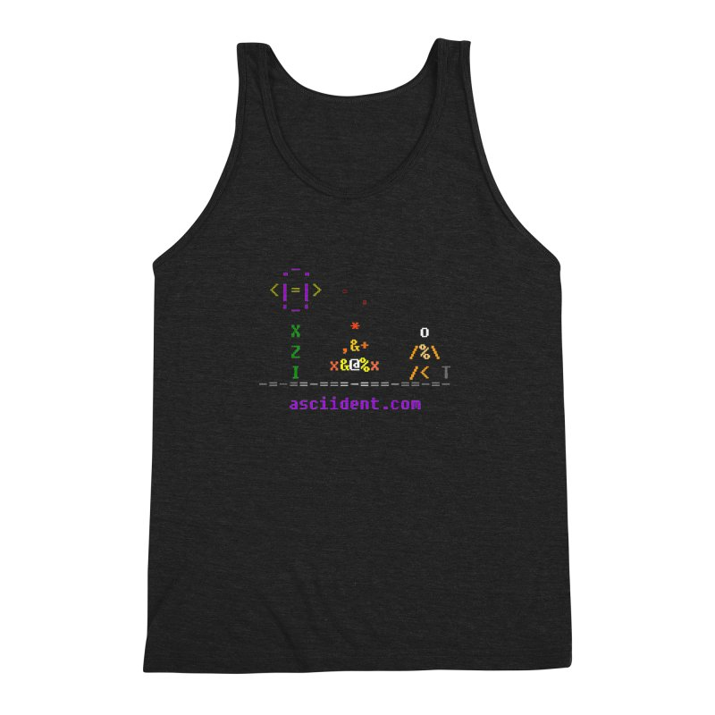Fire Men's Triblend Tank by ASCIIDENT