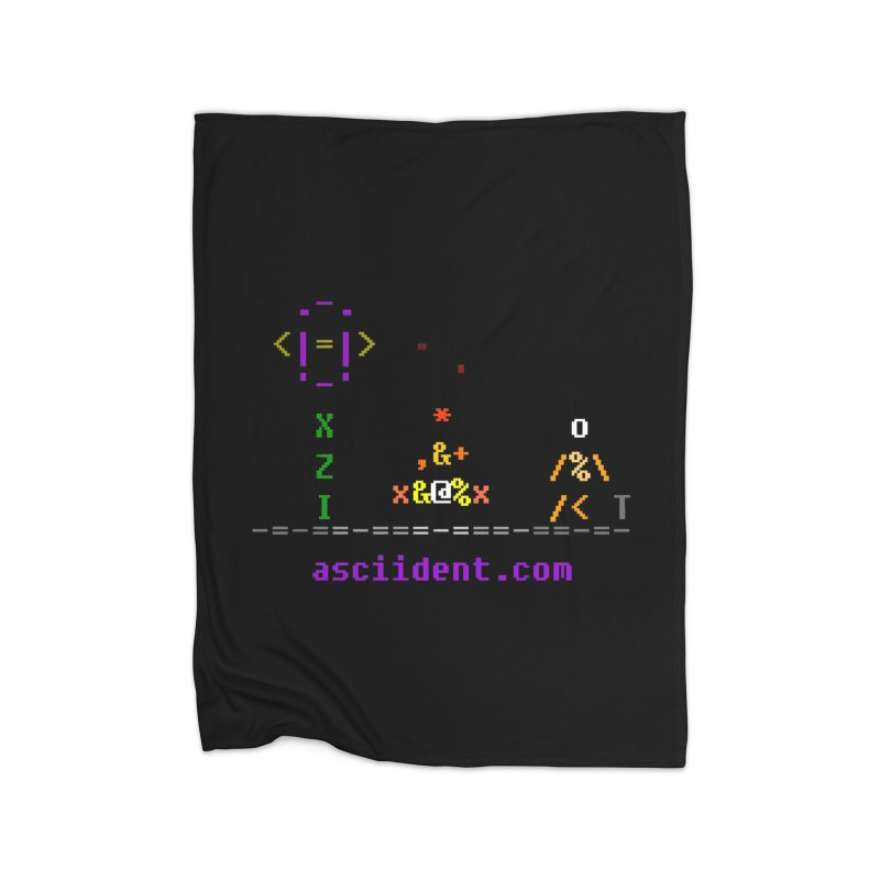 Fire Home Fleece Blanket Blanket by ASCIIDENT