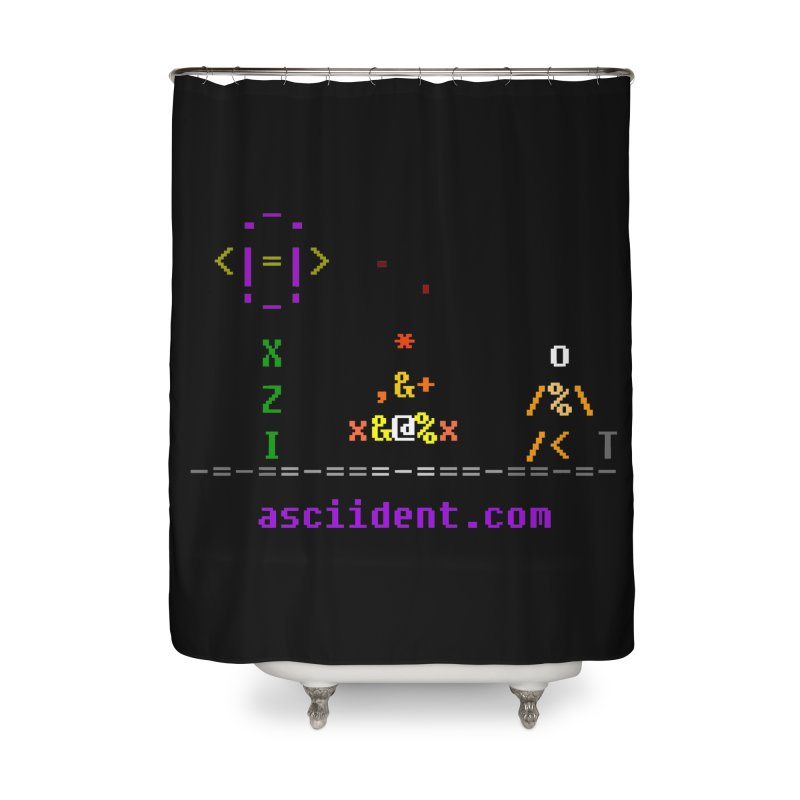 Fire Home Shower Curtain by ASCIIDENT