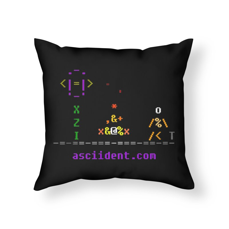 Fire Home Throw Pillow by ASCIIDENT