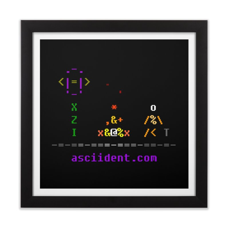 Fire Home Framed Fine Art Print by ASCIIDENT