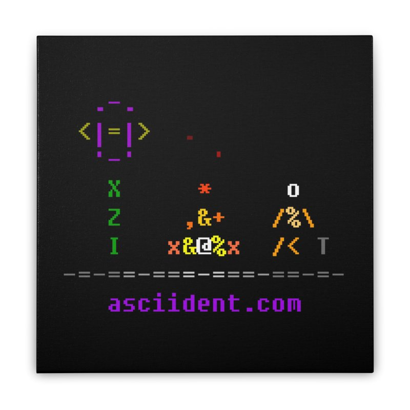 Fire Home Stretched Canvas by ASCIIDENT