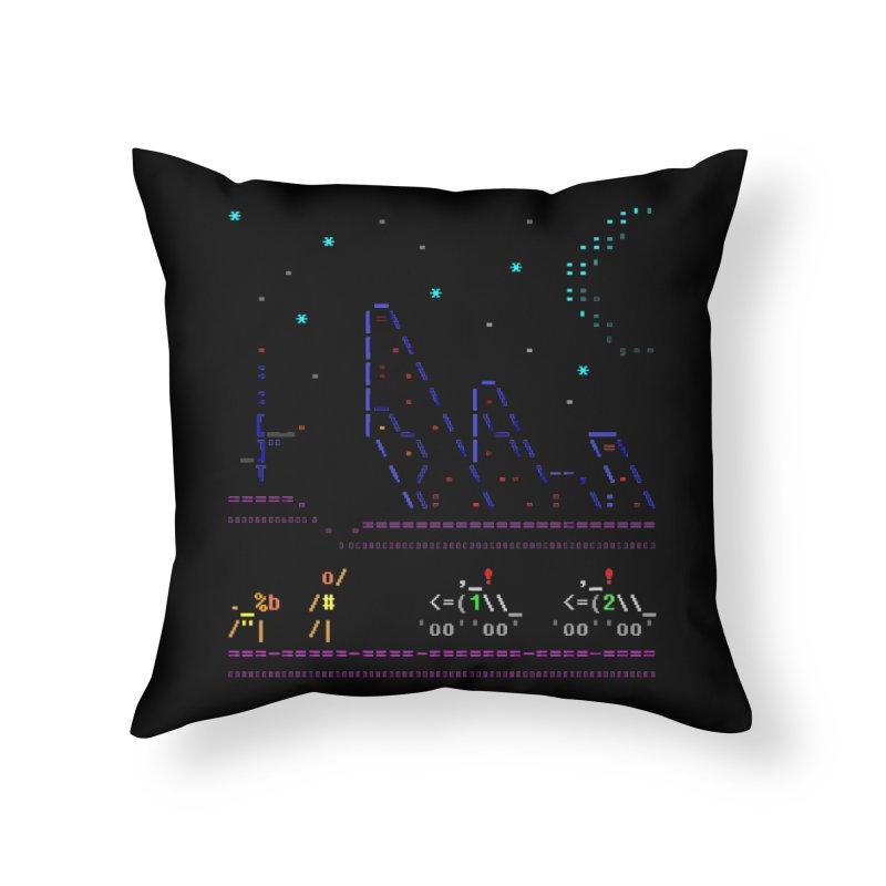 Interception Home Throw Pillow by ASCIIDENT