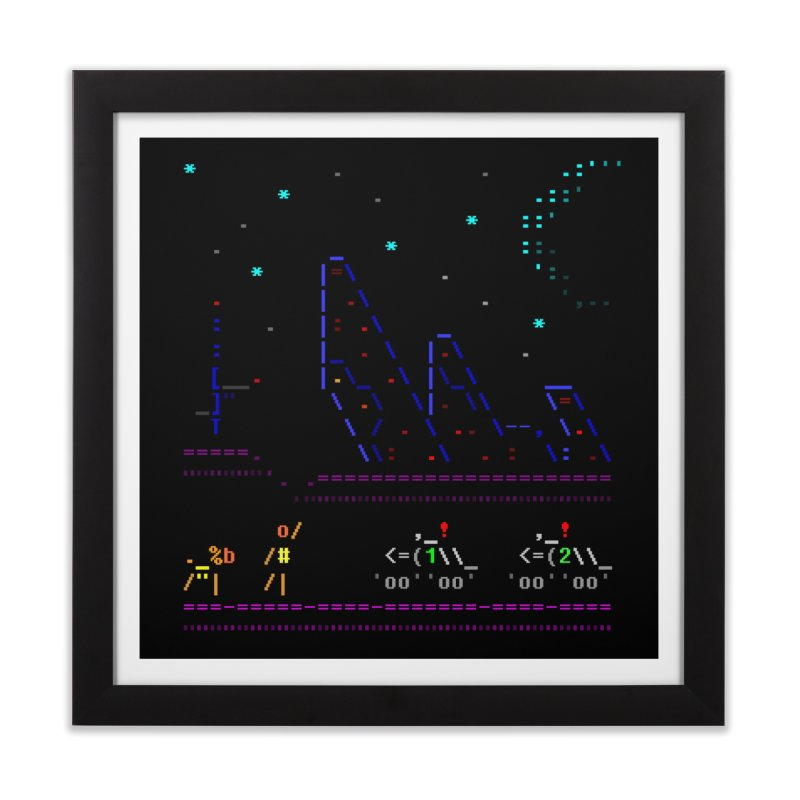 Interception Home Framed Fine Art Print by ASCIIDENT
