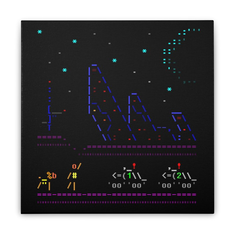 Interception Home Stretched Canvas by ASCIIDENT