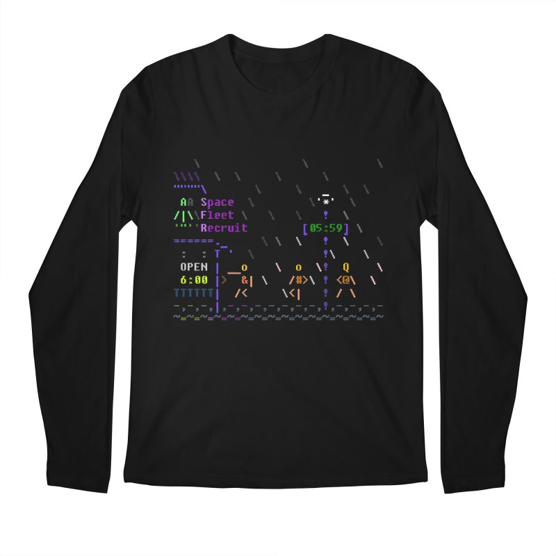 Space Fleet Recruit Men's Regular Longsleeve T-Shirt by ASCIIDENT