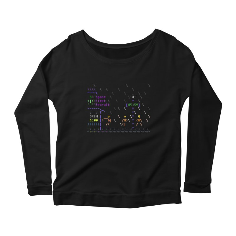 Space Fleet Recruit Women's Scoop Neck Longsleeve T-Shirt by ASCIIDENT