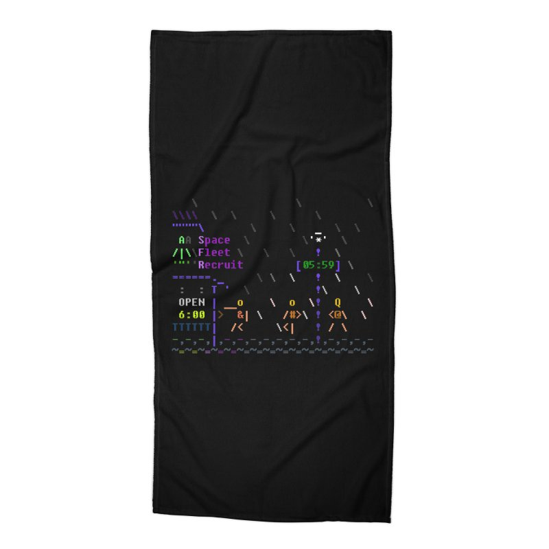 Space Fleet Recruit Accessories Beach Towel by ASCIIDENT
