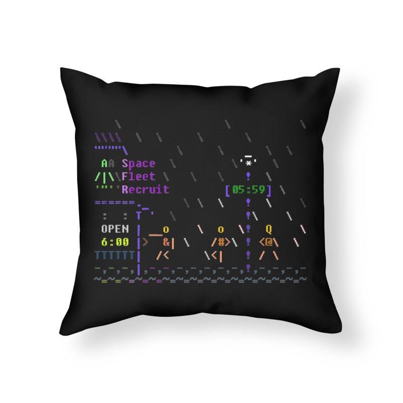 Space Fleet Recruit Home Throw Pillow by ASCIIDENT