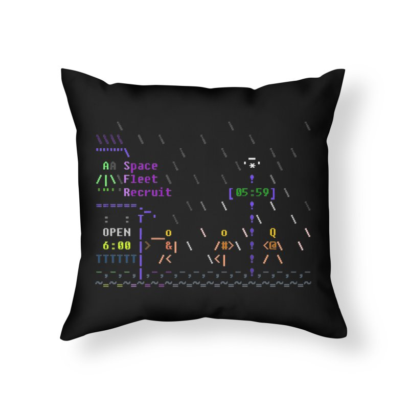 Space Fleet Recruit in Throw Pillow by ASCIIDENT