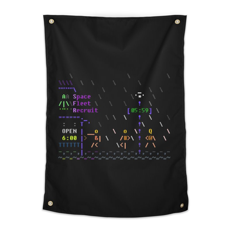 Space Fleet Recruit Home Tapestry by ASCIIDENT