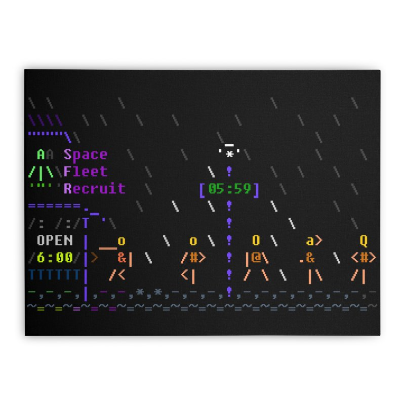 Space Fleet Recruit Home Stretched Canvas by ASCIIDENT