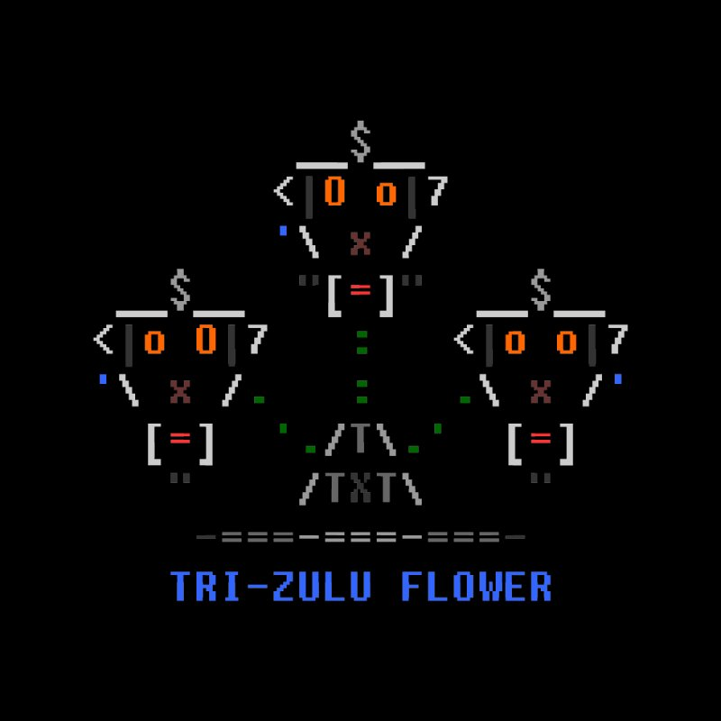 Tri-zulu Flower Home Fine Art Print by ASCIIDENT