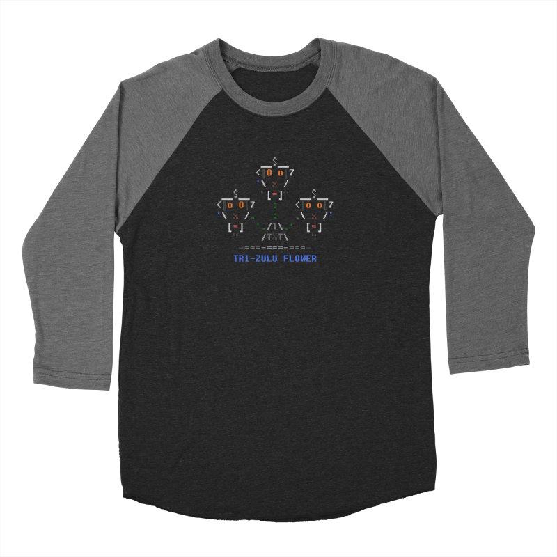 Tri-zulu Flower Women's Baseball Triblend Longsleeve T-Shirt by ASCIIDENT