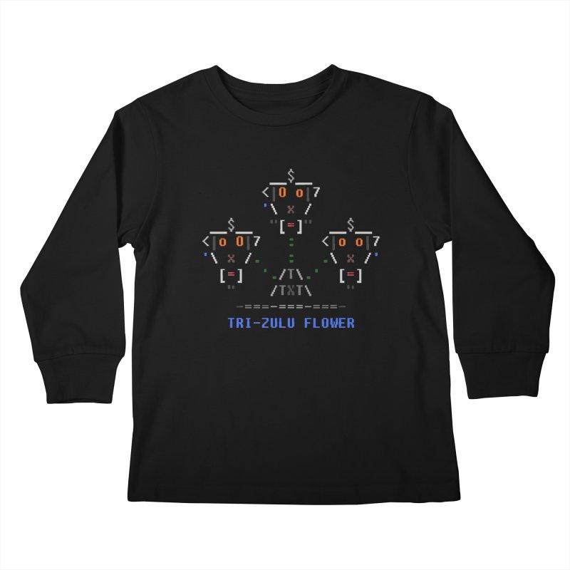 Tri-zulu Flower Kids Longsleeve T-Shirt by ASCIIDENT