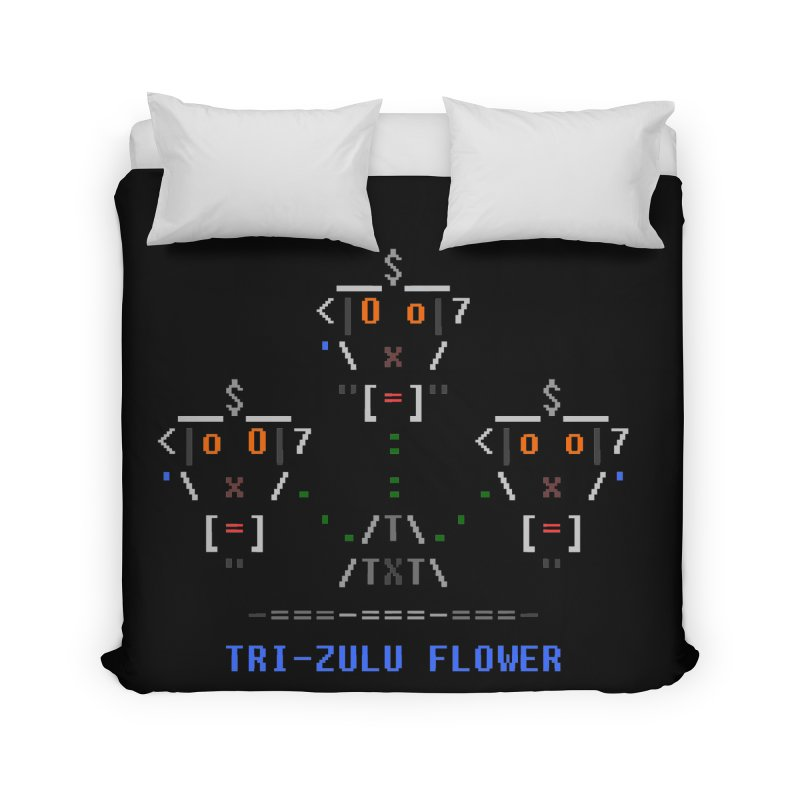 Tri-zulu Flower Home Duvet by ASCIIDENT