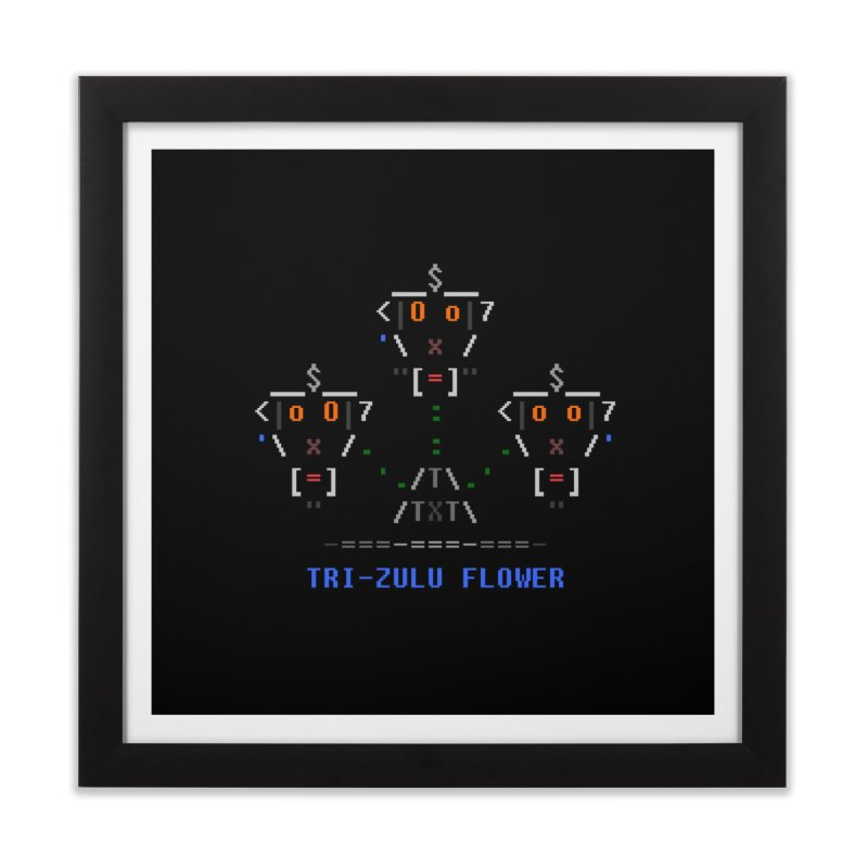 Tri-zulu Flower Home Framed Fine Art Print by ASCIIDENT